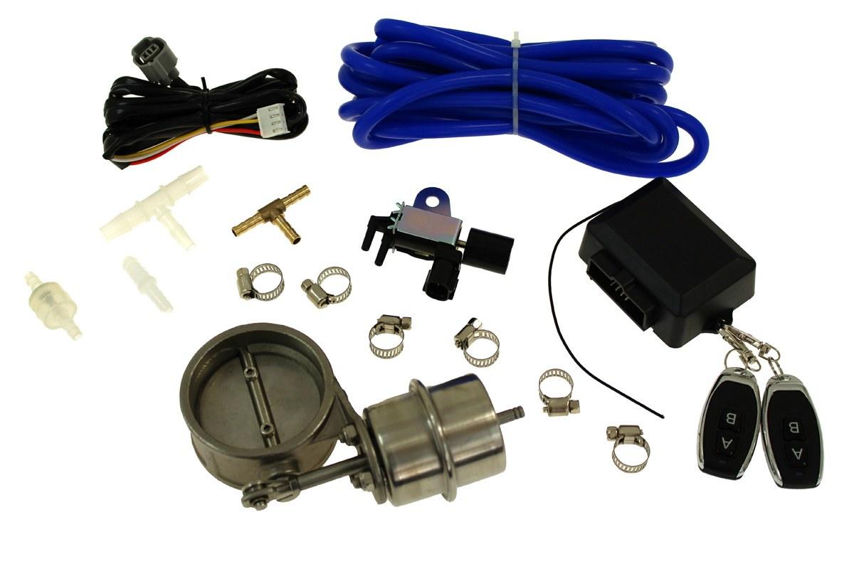 """Zestaw przepustnicy wydechu pneumatyczny 89mm 3,5"""" Vacuum Closed - GRUBYGARAGE - Sklep Tuningowy"""